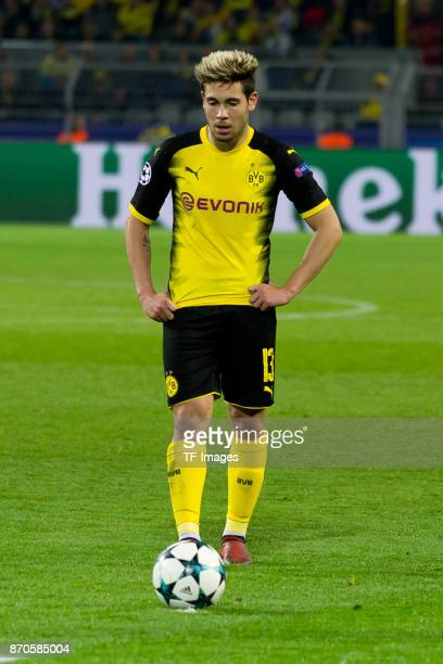 Raphael Guerreiro of Borussia Dortmund controls the ball during the UEFA Champions League Group H soccer match between Borussia Dortmund and APOEL...