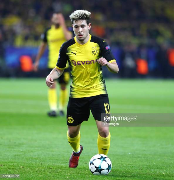 Raphael Guerreiro of Dortmund controls the ball during the UEFA Champions League Group H soccer match between Borussia Dortmund and APOEL Nicosia at...