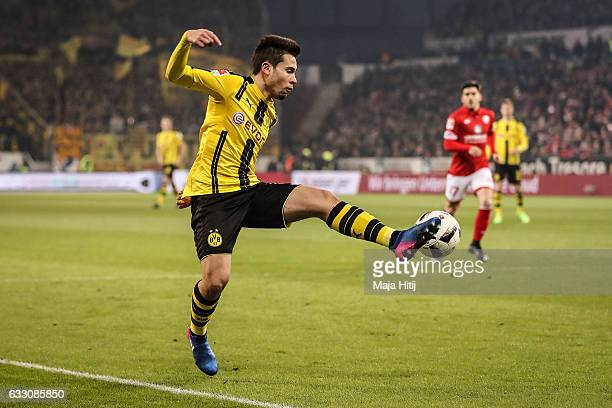 Raphael Guerreiro of Dortmund during the Bundesliga match between 1 FSV Mainz 05 and Borussia Dortmund at Opel Arena on January 29 2017 in Mainz...