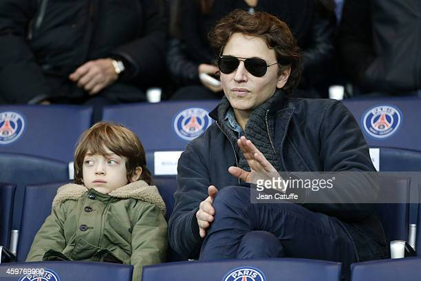 Raphael Haroche and his son Roman Haroche attend the French Ligue 1 match between Paris SaintGermain FC and OGC Nice at Parc des Princes stadium on...
