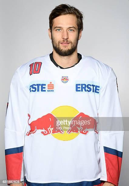 Raphael Herburger of EC Red Bull Salzburg during the portrait shot September 16 2016 in Salzburg Austria