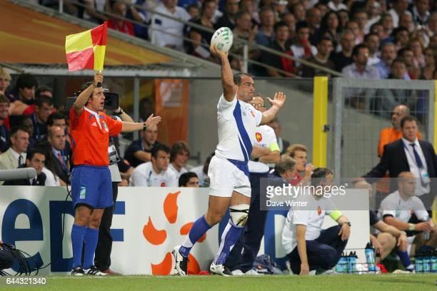 Raphael IBANEZ France / Namibie Coupe du monde de Rugby 2007 Photo Dave Winter / Icon Sport