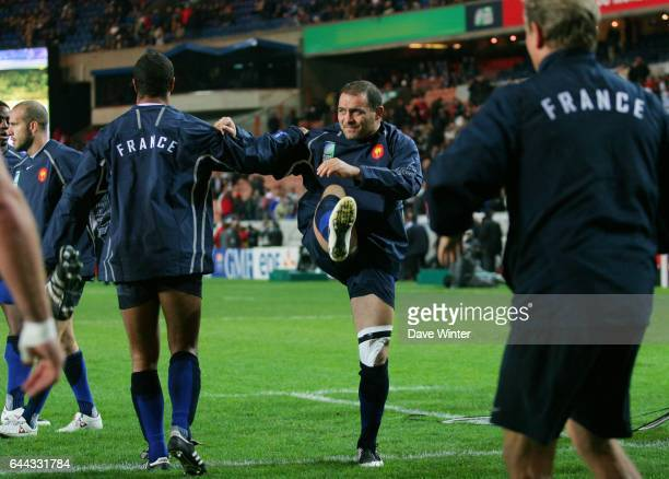 Raphael IBANEZ a l echauffement Argentine / France Rugby Coupe du Monde de Rugby 2007 Match pour la 3eme place Photo Dave Winter/Icon Sport