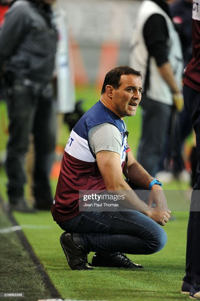 Raphael IBANEZ coach of Bordeaux Begles during the French Top 14 rugby union match between Grenoble and Union Bordeaux-Begles at Stade des Alpes on May 6, 2016 in Grenoble, France.