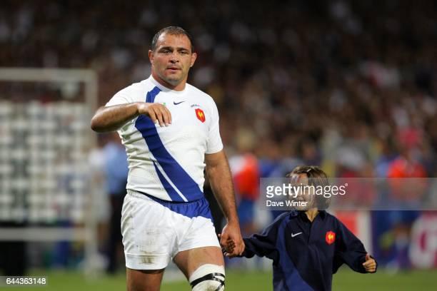 Raphael IBANEZ et fille France /Namibie Coupe du Monde de Rugby Photo Dave Winter / Icon Sport