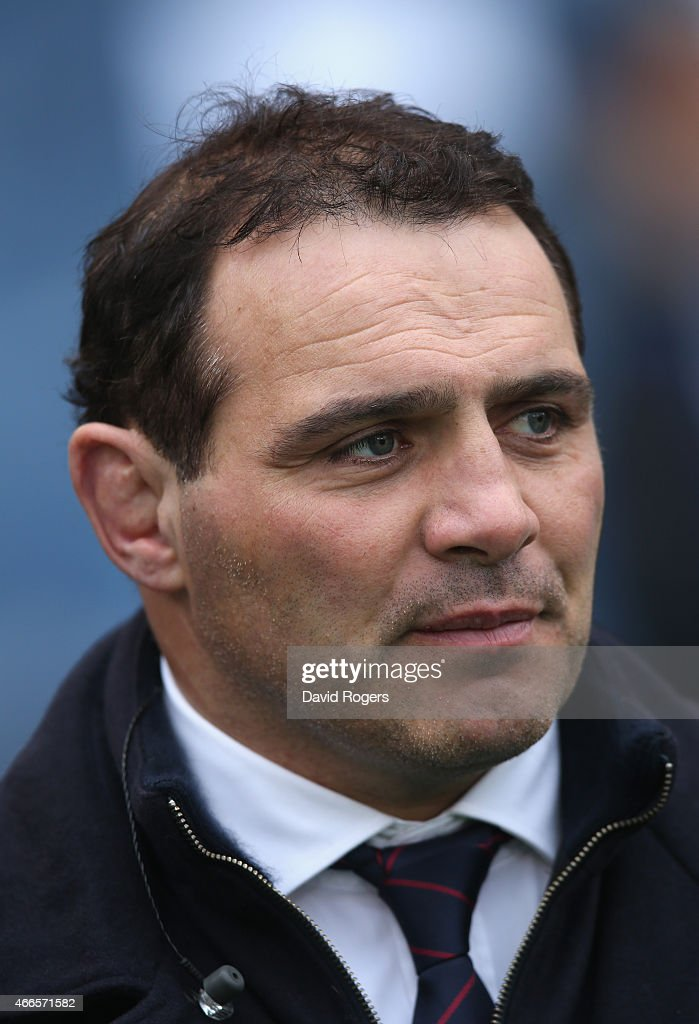 Raphael Ibanez, head coach of Bordeaux Begles looks on during the Six Nations match between Italy and France at the Stadio Olimpico on March 15, 2015 in Rome, Italy.