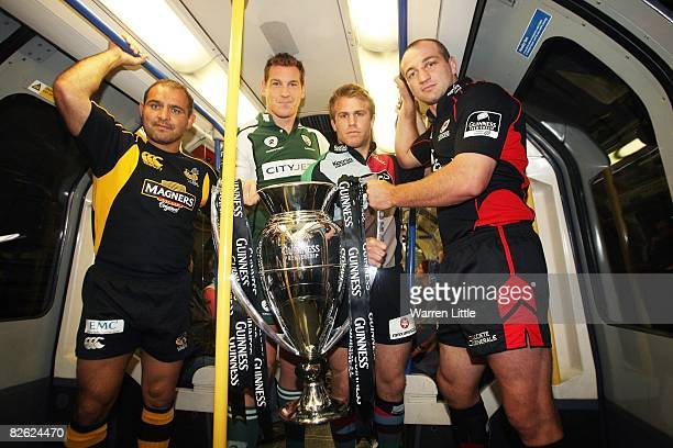 Raphael Ibanez of London Wasps Bob Casey of London Irish Will Skinner of Harlequins and Steve Borthwick of Saracens the captains of the London based...