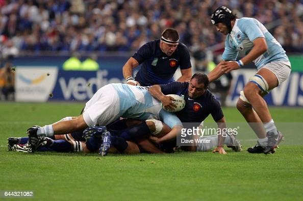 Raphael IBANEZ / Rodrigo RONCERO France / Argentine Coupe du Monde de Rugby 2007 Photo Dave Winter/Icon Sport
