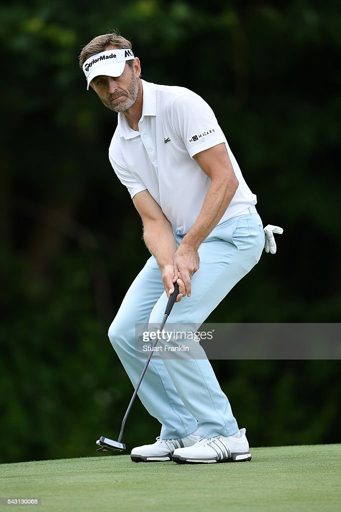 <a gi-track='captionPersonalityLinkClicked' href=/galleries/search?phrase=Raphael+Jacquelin&family=editorial&specificpeople=208683 ng-click='$event.stopPropagation()'>Raphael Jacquelin</a> of France reacts during the final round of the BMW International Open at Gut Larchenhof on June 26, 2016 in Cologne, Germany.