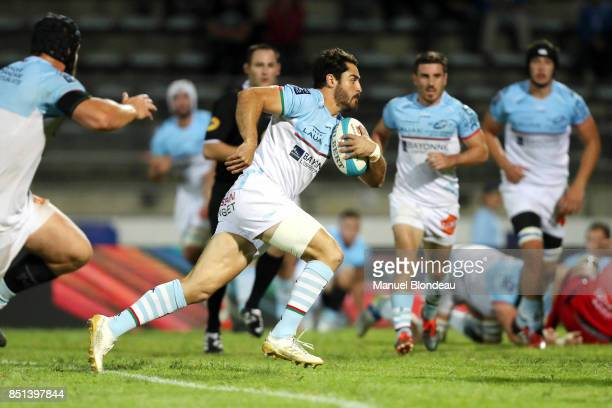 Raphael Lagarde of Bayonne during the French Pro D2 match between Aviron Bayonnais and Grenoble on September 21 2017 in Bayonne France