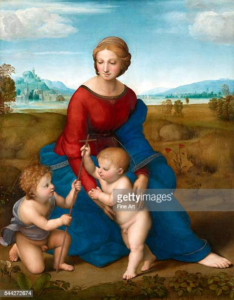 Raphael Madonna in the Meadow 15056 oil on panel 113 x 885 cm Kunsthistorisches Museum Vienna
