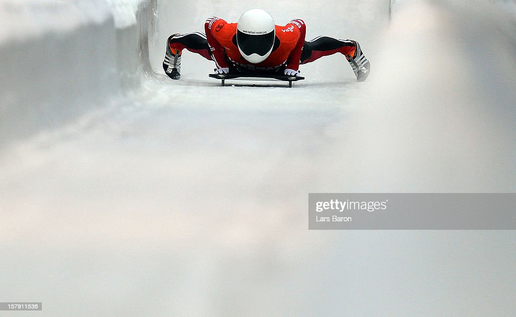 Raphael Maier of Austria is seen after the FIBT Bob & Skeleton World Cup at Bobbahn Winterberg on December 7, 2012 in Winterberg, Germany.