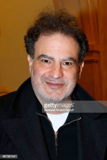 Raphael Mezrahi attends the 'Comme s'il en pleuvait' Theater Play for TV at Theatre Edouard VII on April 29 2014 in Paris France
