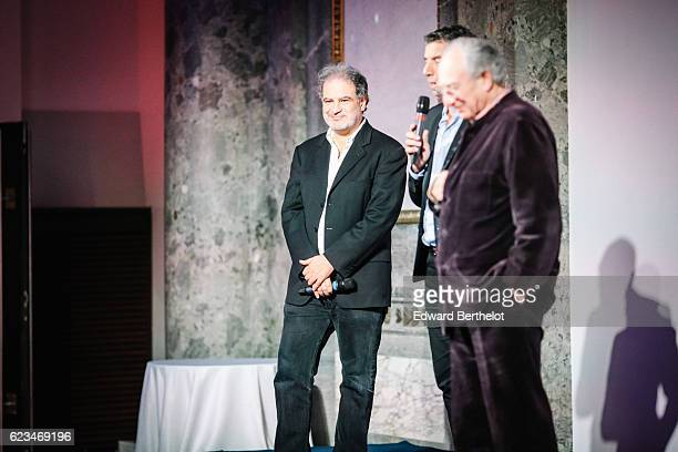 Raphael Mezrahi Michel Cymes and Alain PierreKahn during the 'Make a Wish' charity gala in Paris at Pavillon Cambon on November 15 2016 in Paris...