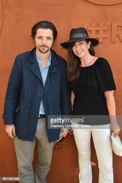 Raphael Personnaz and Albane Cleret attend the 2017 French Tennis Open Day Five at Roland Garros on June 1 2017 in Paris France