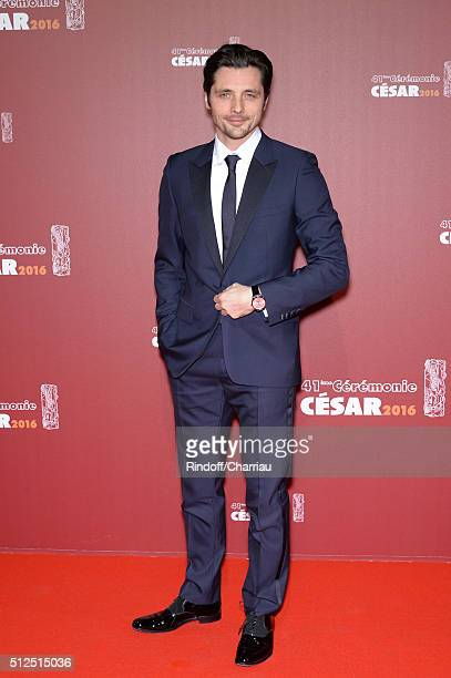 Raphael Personnaz arrives at The Cesar Film Awards 2016 at Theatre du Chatelet on February 26 2016 in Paris France