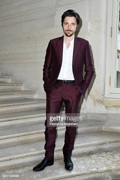 Raphael Personnaz attends the Valentino Menswear Spring/Summer 2017 show as part of Paris Fashion Week on June 22 2016 in Paris France