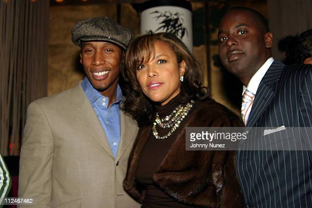 Raphael Saadiq Lynn Whitfield and Etu Evans during Raphael Saadiq Live Performace at Maritime Hotel in New York City New York United States