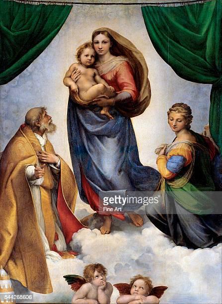 Raphael The Sistine Madonna 151213 oil on panel 2695 x 201 cm Gemäldegalerie Staatliche Kunstsammlungen Dresden Germany
