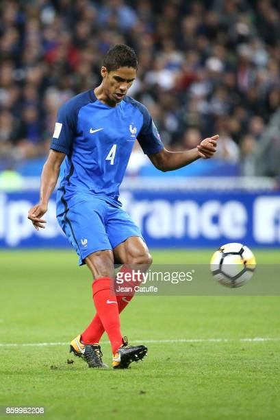 Raphael Varane of France during the FIFA 2018 World Cup Qualifier between France and Belarus at Stade de France on October 10 2017 in Saint Denis...