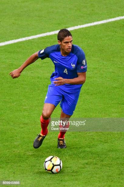 Raphael Varane of France during the Fifa 2018 World Cup qualifying match between France and Belarus on October 10 2017 in Paris France