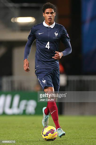 Raphael Varane of France in action during the international friendly match between France and Albania at Stade de la Route de Lorient stadium on...