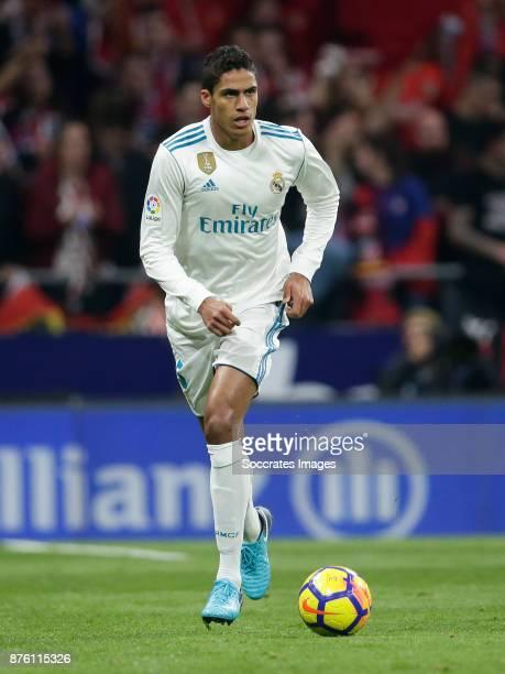 Raphael Varane of Real Madrid during the Spanish Primera Division match between Atletico Madrid v Real Madrid at the Estadio Wanda Metropolitano on...