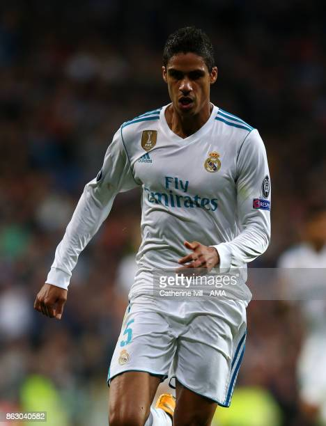 Raphael Varane of Real Madrid during the UEFA Champions League group H match between Real Madrid and Tottenham Hotspur at Estadio Santiago Bernabeu...