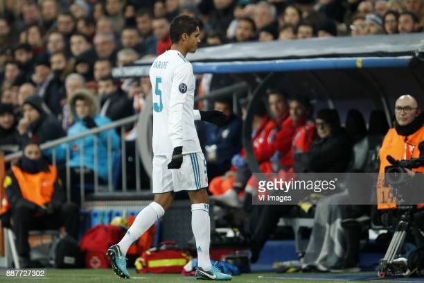 Raphael Varane of Real Madrid during the UEFA Champions League group H match between Real Madrid and Borussia Dortmund on December 06 2017 at the...