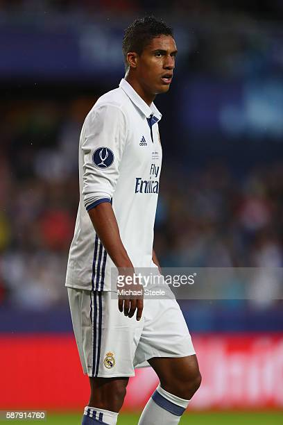 Raphael Varane of Real Madrid during the UEFA Super Cup match between Real Madrid and Sevilla at Lerkendal Stadium on August 9 2016 in Trondheim...