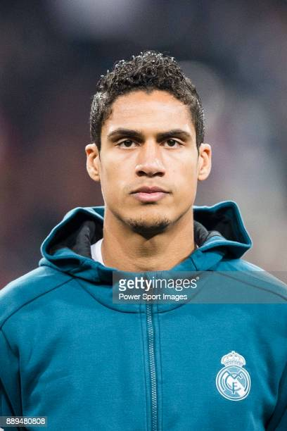 Raphael Varane of Real Madrid getting into the field during the Europe Champions League 201718 match between Real Madrid and Borussia Dortmund at...