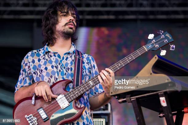 Raphael Vaz of the Boogarins performs on EDP stage at day 1 of Super Bock Super Rock festival on July 13 2017 in Lisboa CDP Portugal