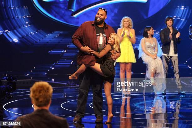 Raphael Williams son of Alphonso Williams and Michelle during the fourth event show and semi finals of the tv competition 'Deutschland sucht den...