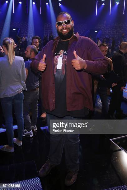 Raphael Williams son of Alphonso Williams during the fourth event show and semi finals of the tv competition 'Deutschland sucht den Superstar' at...