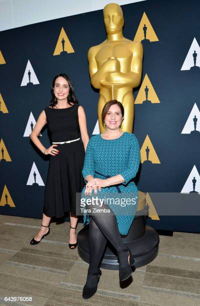 Raphaela Neihausen and Kahane Cooperman attend the 89th Annual Academy Awards Oscar week reception for nominated films in the Documentary category at...