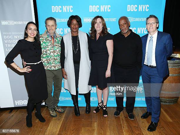 Raphaela Neihausen Jonathan Demme Dawn Porter Molly Thompson Stanley Nelson and Thom Powers attend DOC NYC Visionaries Tribute Luncheon at City...