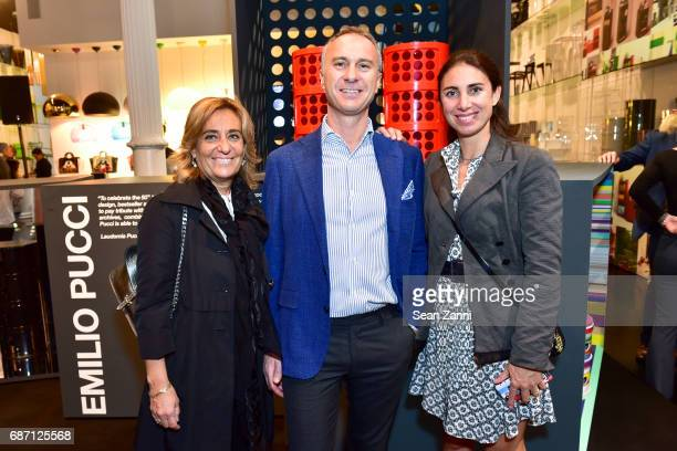 Raphaela Polini Gilberto Negrini and Lorenza Luti attend Kartell Tribute to Componibili 50th Anniversary at Kartell Flagship Store New York on May 22...