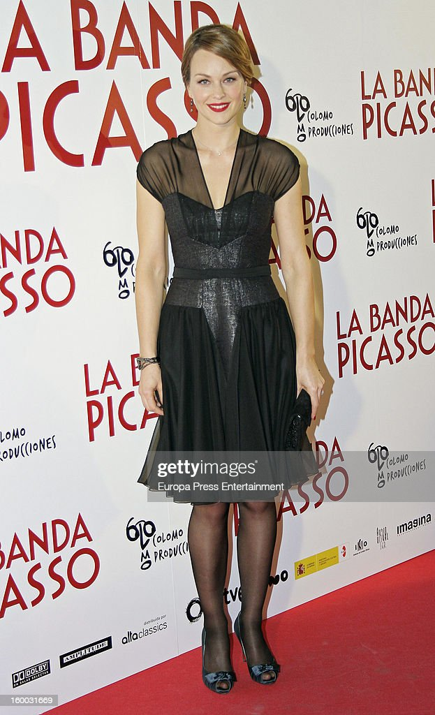 Raphaelle Agogue attends 'La Banda Picasso' premiere on January 24, 2013 in Madrid, Spain.