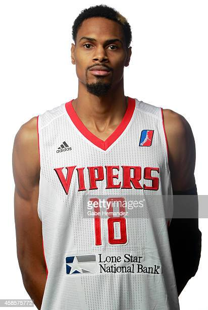 Raphiael Putney of the Rio Grande Valley Vipers poses for a photos during media day on Nov 6 2014 State Farm Arena in Hidalgo Texas NOTE TO USER User...
