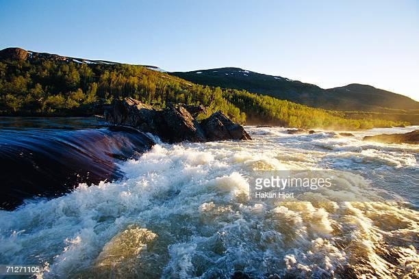Rapids in a mountain landscape.