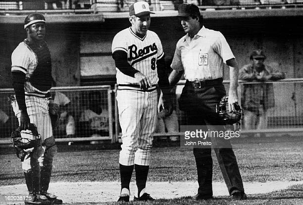JUN 2 1976 JUL 3 1976 Rapp Raps With Umpire Mike Reilly Over Interference Call Against Bears Wichita's Mike Krukow was awarded first base in decision...