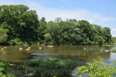 Rappahannock River where visitors can kayak canoe and tube in Fredericksburg Virginia on July 18 2014
