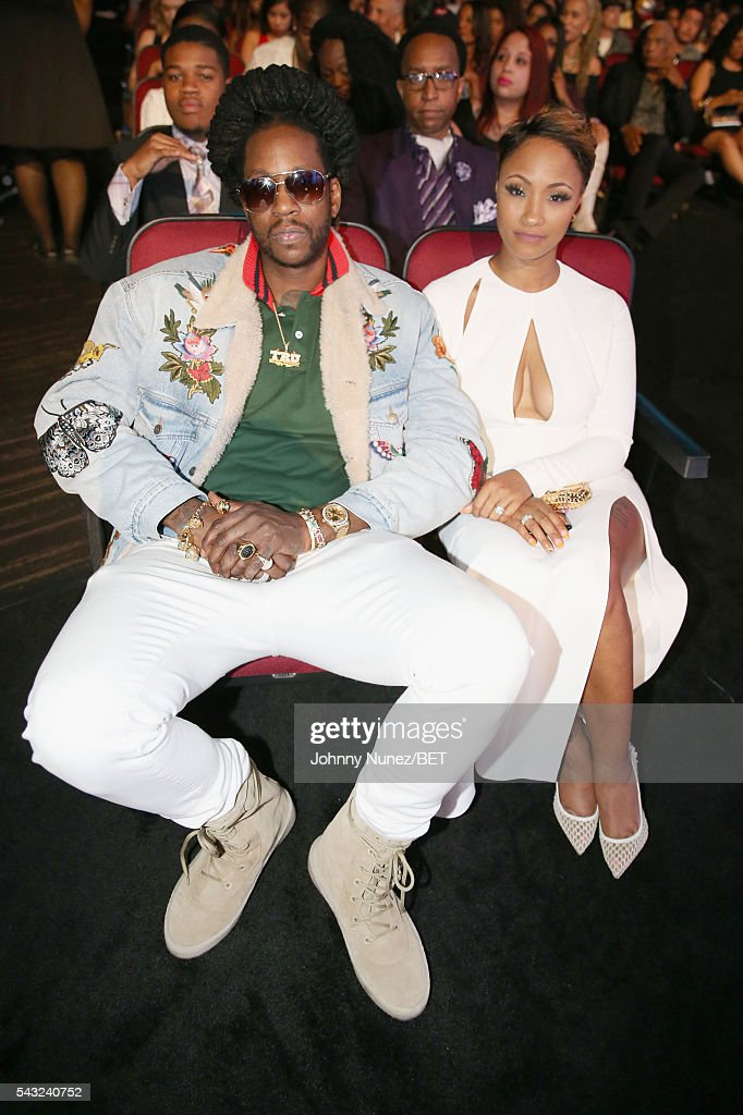 Rapper <a gi-track='captionPersonalityLinkClicked' href=/galleries/search?phrase=2+Chainz&family=editorial&specificpeople=8559144 ng-click='$event.stopPropagation()'>2 Chainz</a> (L) and guest attend the 2016 BET Awards at the Microsoft Theater on June 26, 2016 in Los Angeles, California.