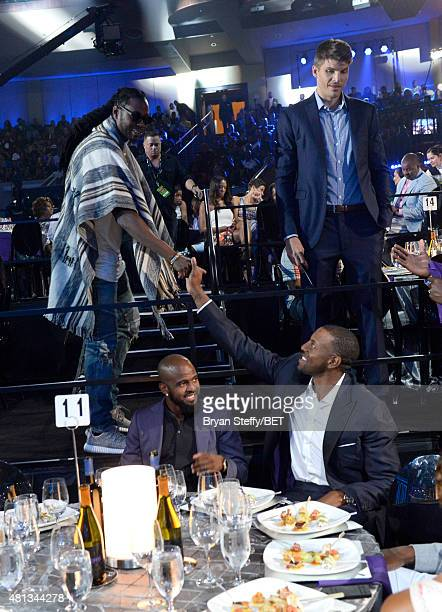 Rapper 2 Chainz and Kyle Korver attend The Players' Awards presented by BET at the Rio Hotel Casino on July 19 2015 in Las Vegas Nevada