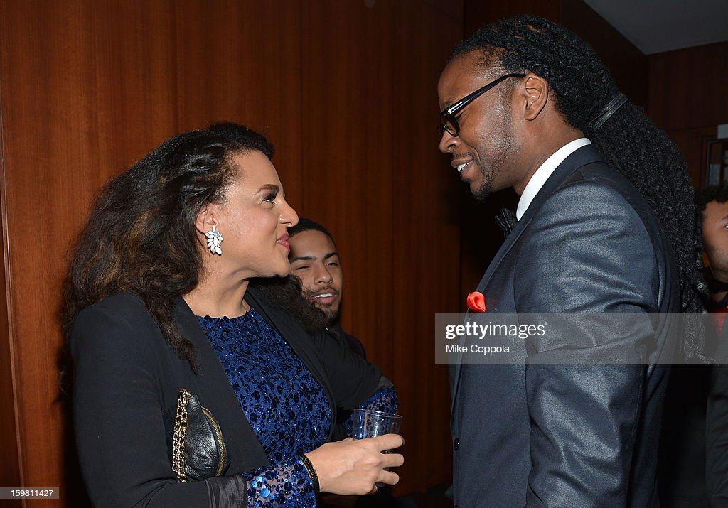 Rapper 2 Chainz (R) and Marsha Ambrosius attend The Hip Hop Inaugural Ball II sponsored by Heineken USA at Harman Center for the Arts on January 20, 2013 in Washington, DC.