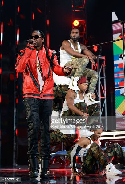 Rapper 2 Chainz and singer Jason Derulo perform onstage during the 2014 Billboard Music Awards at the MGM Grand Garden Arena on May 18 2014 in Las...