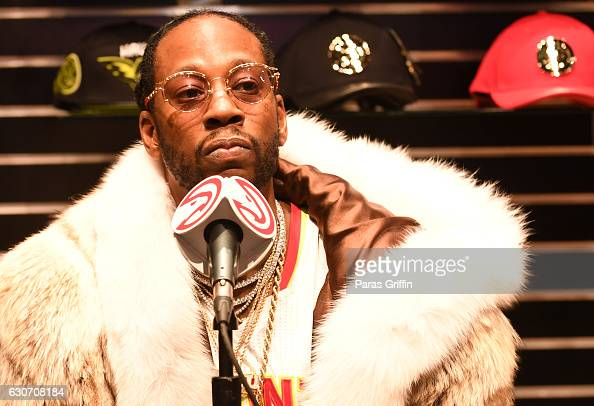 Rapper 2 Chainz at his press conference at Philips Arena on December 30 2016 in Atlanta Georgia