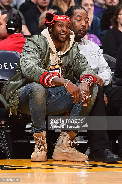 Rapper 2 Chainz attends the Atlanta Hawks game against the Los Angeles Lakers on November 27 2016 at STAPLES Center in Los Angeles California NOTE TO...