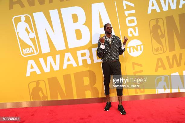 Rapper 2 Chainz on the red carpet at the NBA Awards Show on June 26 2017 at Basketball City at Pier 36 in New York City New York NOTE TO USER User...