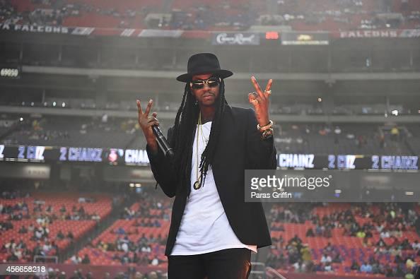 Rapper 2 Chainz performs at the 2014 Atlanta Football Classic at Georgia Dome on October 4 2014 in Atlanta Georgia